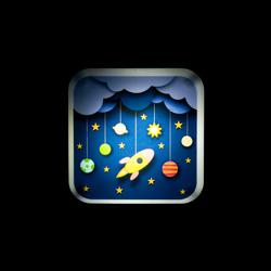 Nisa Luce Uzay Mekiği Gece Lambası
