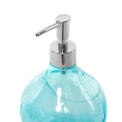 Ang Design Safir Cam Sıvı Sabunluk - Mavi