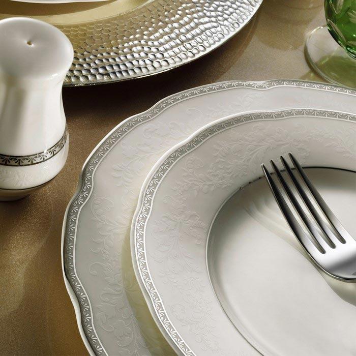 Resim  Kütahya Porselen Bone Olympos 30 Parça 9824 Desenli Yemek Takımı