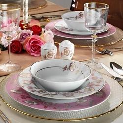 Kütahya Porselen 8579 83 Parça Desenli Yemek Takımı
