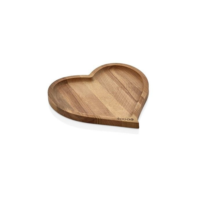 Resim  Taboo Tab-1035 Kalp Ahşap Sunum Tabağı