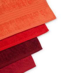Hobby Rainbow 4'lü Yüz Havlusu Seti (Kırmızı) - 50x90 cm
