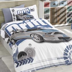 Hobby Drift Tek Kişilik Poplin Uyku Seti - Mavi