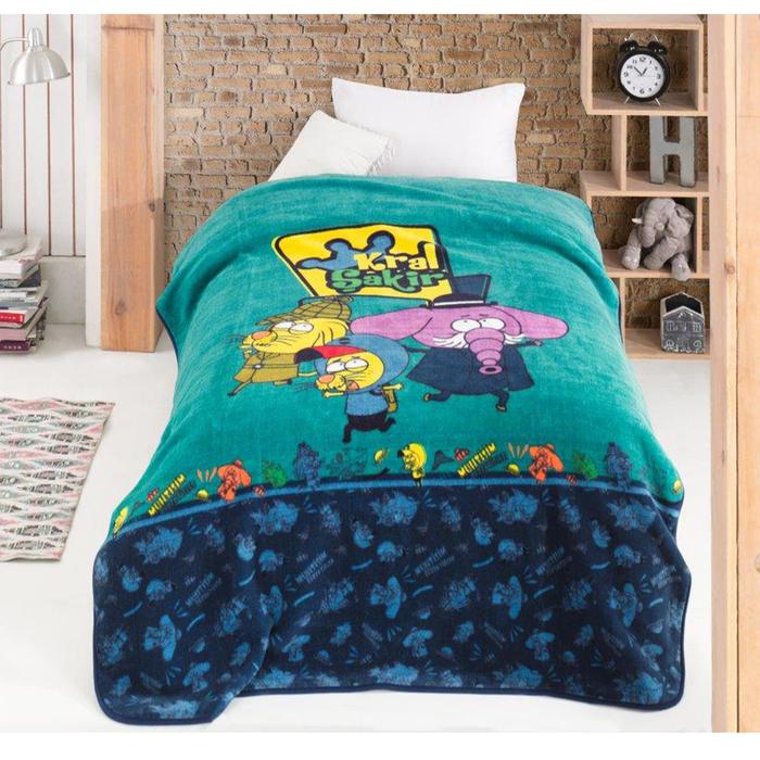 Hobby Kral Şakir Lisanslı Çocuk Battaniyesi - 155x220 cm