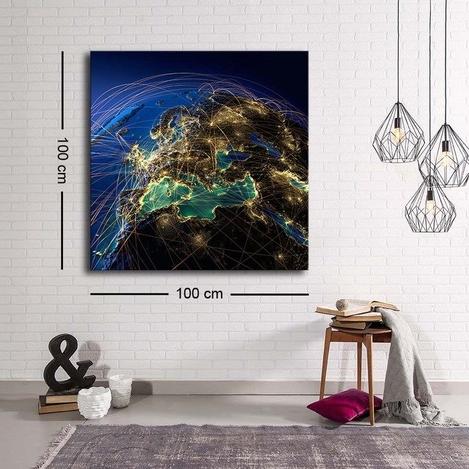 Resim  Özgül Grup C-002 Kanvas Tablo - 100x100 cm
