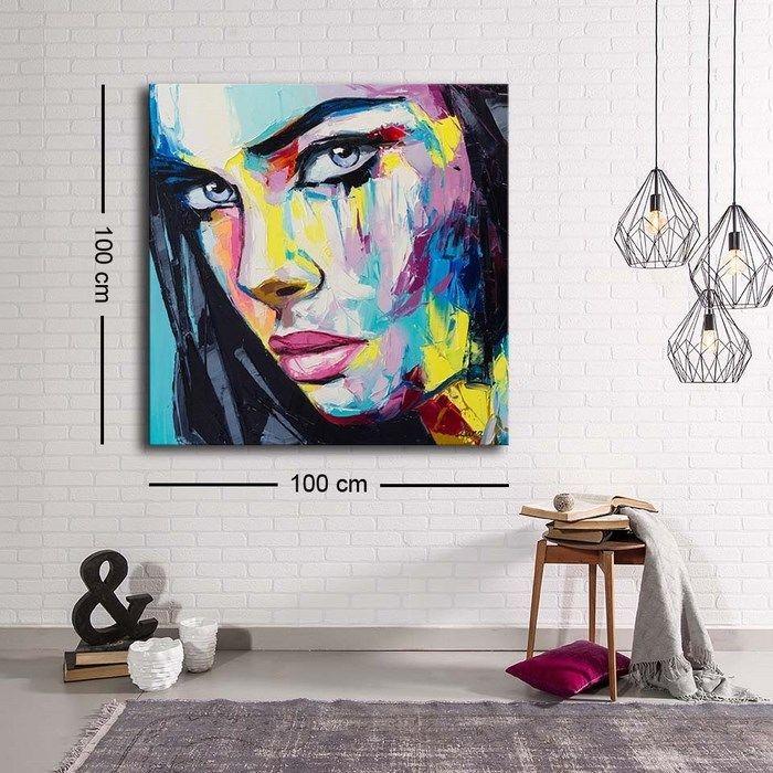 Resim  Özgül Grup C-029 Kanvas Tablo - 100x100 cm