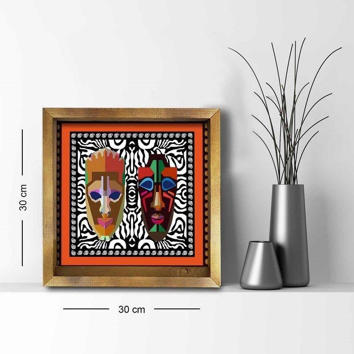Resim  Özgül Grup 3030AHS065 Ahşap Çerçeveli Tablo - 30x30 cm