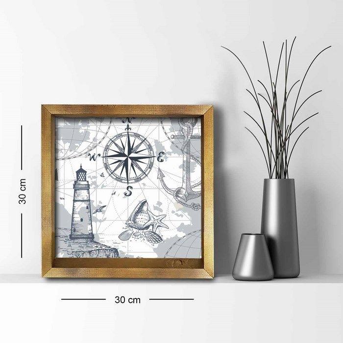 Resim  Özgül Grup 3030AHS073 Ahşap Çerçeveli Tablo - 30x30 cm