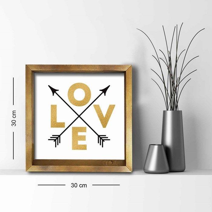 Resim  Özgül 3030AHS0102a Ahşap Çerçeveli Tablo - 30x30 cm