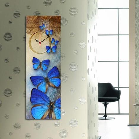 Resim  Özgül 3090CS-45 Canvas Tablo Saat - 30x90 cm