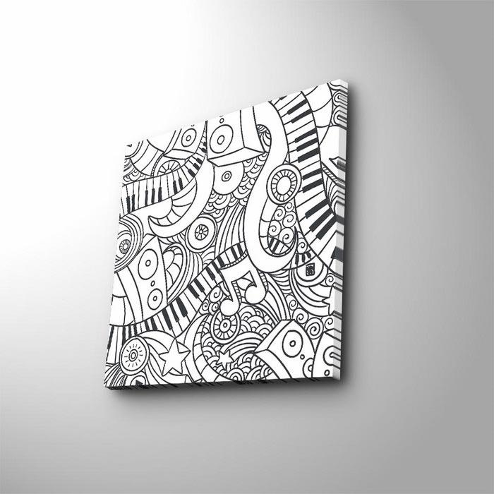 Ozgul Boya 01 Boyanabilir Kanvas Tablo Kalem Hediyeli 45x45 Cm
