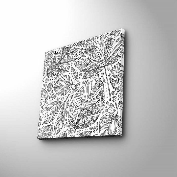 Ozgul Boya 48 Boyanabilir Kanvas Tablo Kalem Hediyeli 45x45 Cm
