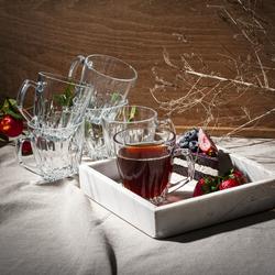 Paşabahçe 55713 Safir 6'lı Kulplu Çay Fincanı - 170 cc