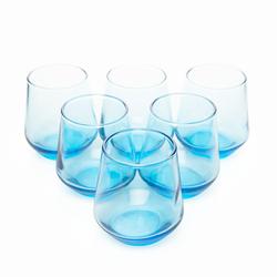 Paşabahçe 420202 Allegra 6'lı Kahve Yanı Su Bardağı - Mavi / 115 cc