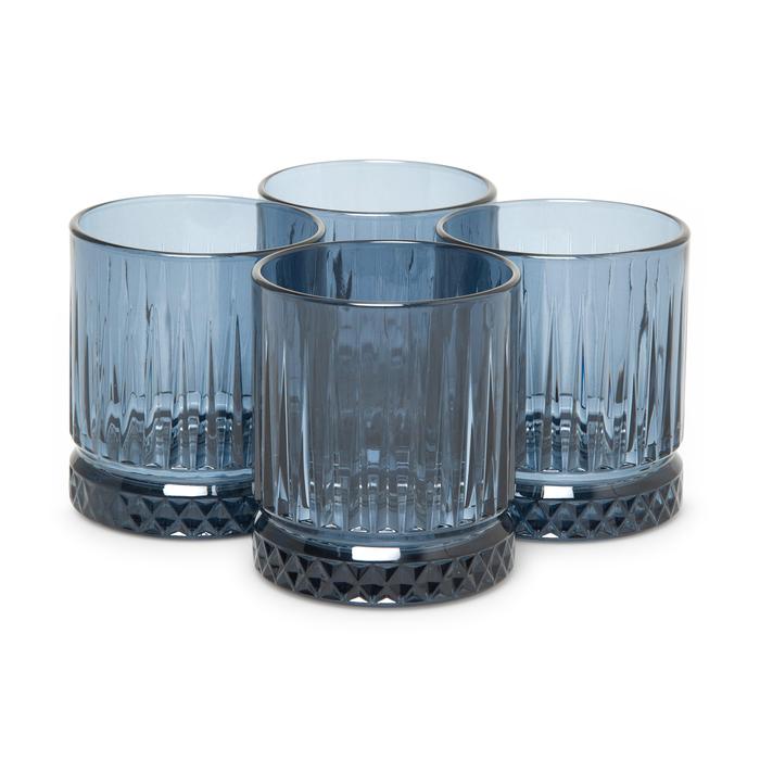 Resim  Paşabahçe 520004 Tumbler Mavi 4'lü Meşrubat Bardağı