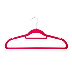 Lorin 5'li Kadife Elbise Askısı - Fuşya