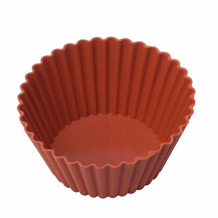Silicolife 6'lı Silikon Muffin Kalıbı - Kırmızı