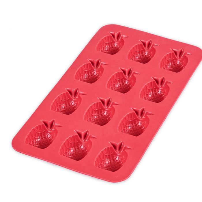 Silicolife Ananas Buz ve Çikolata Kalıbı - Kırmızı