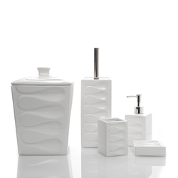 Perotti 13063 5 Parça Kovalı Banyo Takımı - Beyaz