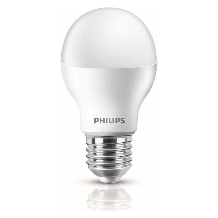 Resim  Philips A60 Ledbulb 9-60W E27 6500K Beyaz Işık 2'Li Ekopaket Ampul