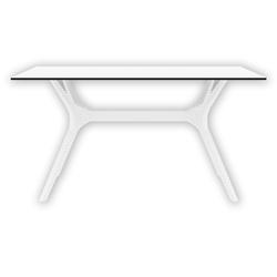 Siesta İbiza 140 Bahçe Masası - Beyaz