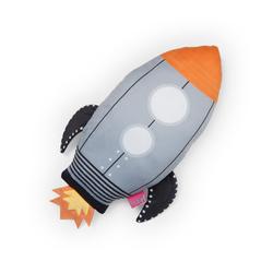Selay Roket Figürlü Yastık - 35 cm