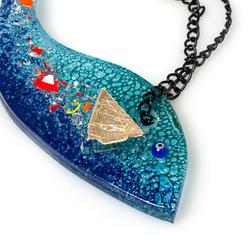 Q-Art Varaklı Füzyon Balık Duvar Süsü