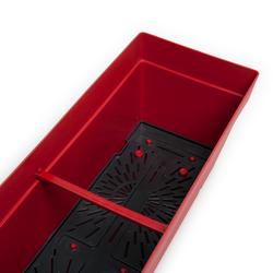Serinova No 2 Yalı Balkon Saksı (Kırmızı) - 10,8 lt