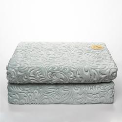 Sesli Home Deluxe Gold Vizon Çift Kişilik Battaniye (Su Yeşili) - 220x240 cm