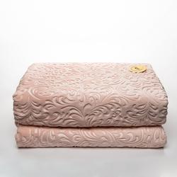 Sesli Home Deluxe Gold Vizon Çift Kişilik Battaniye (Pudra) - 220x240 cm