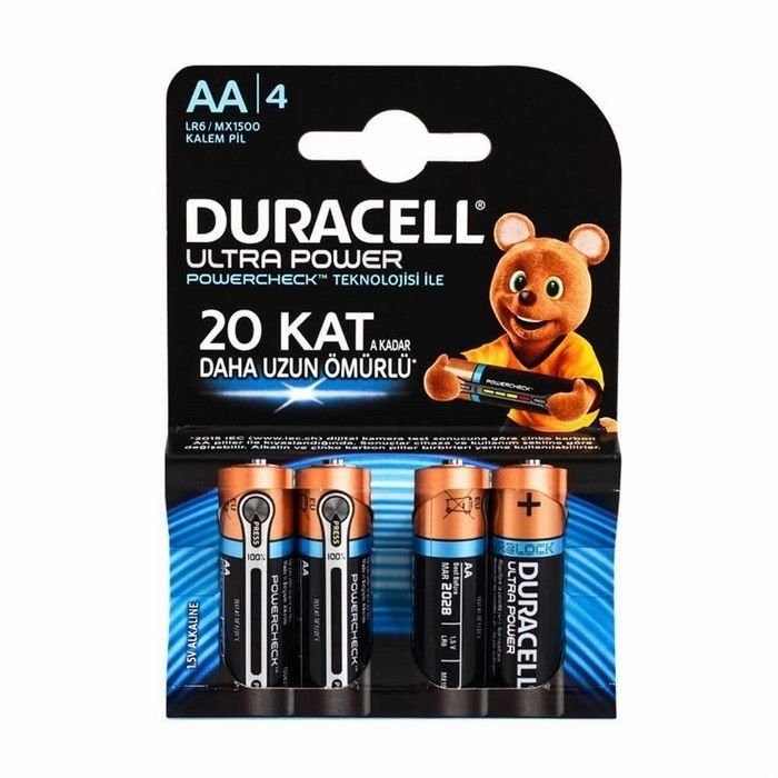 Resim  Duracell Ultra Power Kalem Pil 4'lü AA