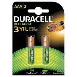 Duracell Şarj Edilebilir Pil 2'li AAA 750 mAh