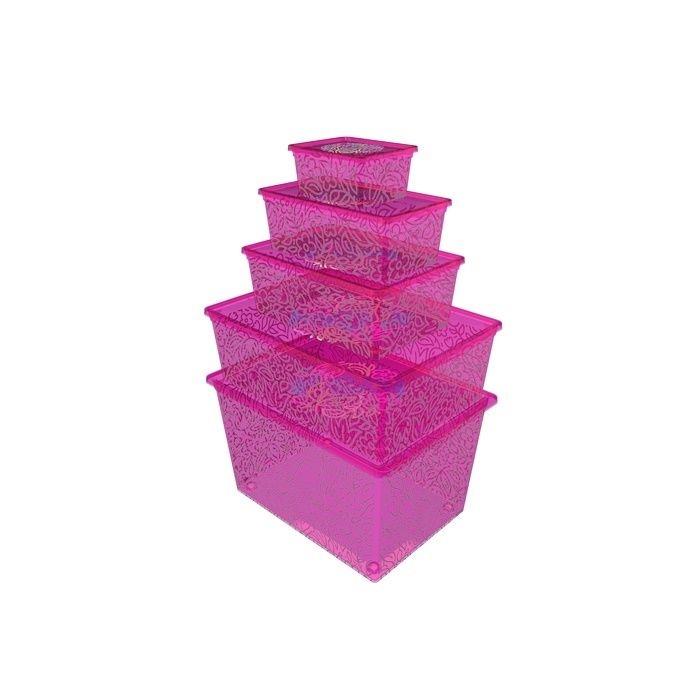 Resim  Qutu Lıght Box Fluorescent Pınk 5'li Kutu