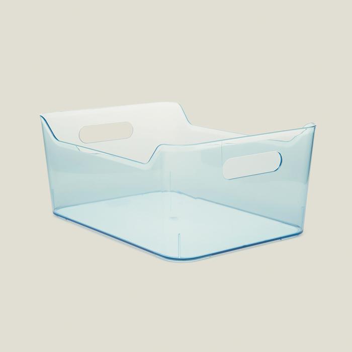 Q-Fridge Basket Transparent Blue Buzdolabı İçi Düzenleyici