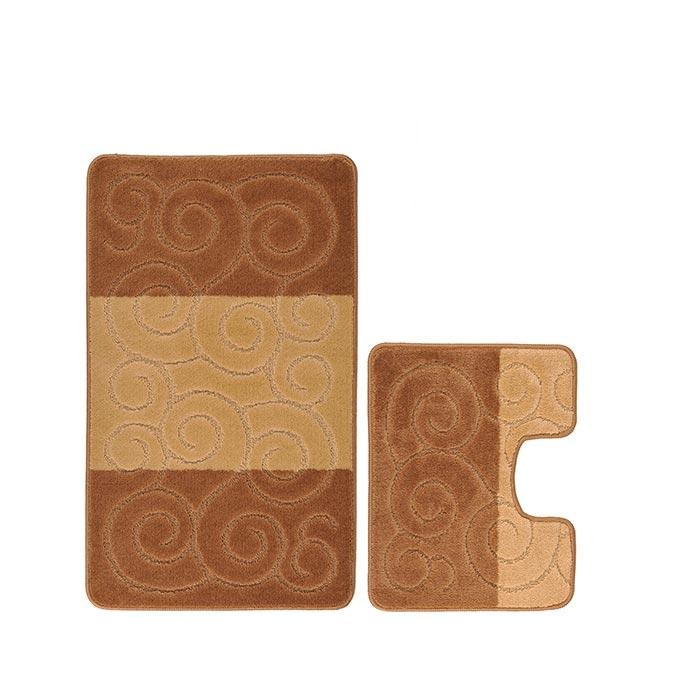 Resim  Confetti Şile 2'li Klozet Takımı - Sütlü Kahverengi