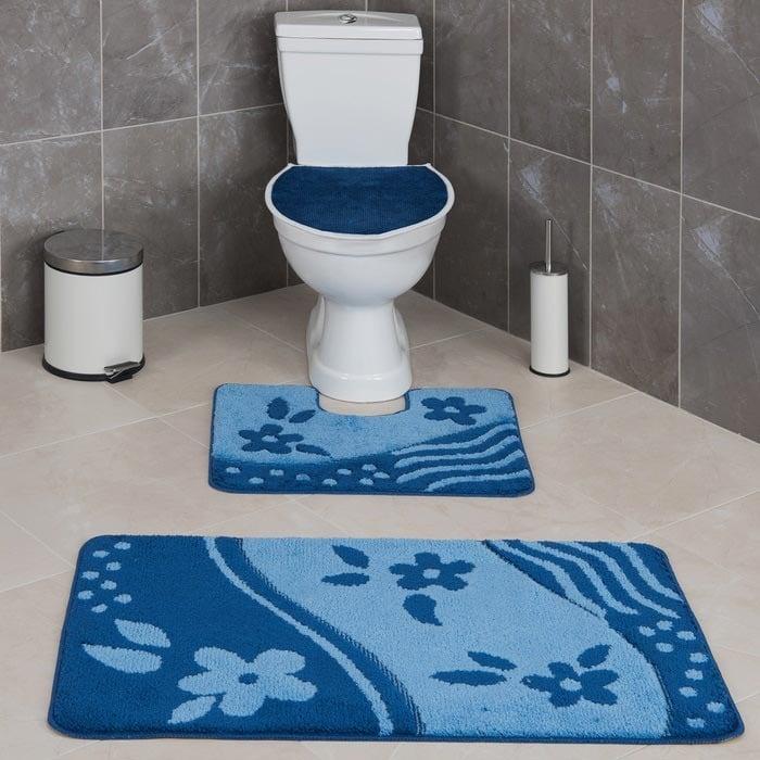 Resim  Confetti Bandırma 3'lü Klozet Takımı - Koyu Mavi