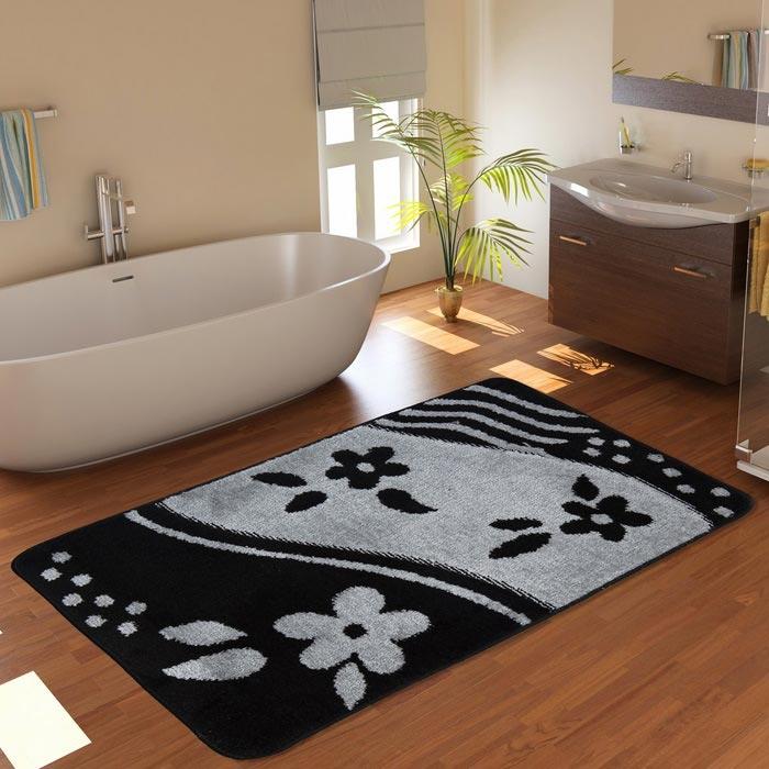 Resim  Confetti Bandırma Banyo Paspası (Siyah) - 60x100 cm