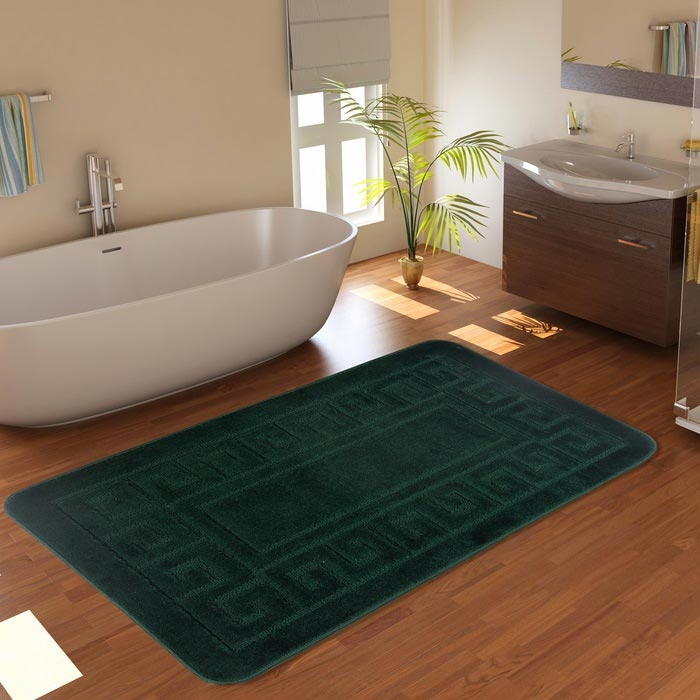 Resim  Confetti Ethnic Banyo Paspası (Nefti Yeşili) - 60x100 cm