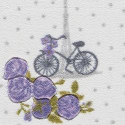 Confetti Vintage Bike Banyo Paspası (Mor) - 100x160 cm