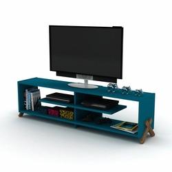 Rafevi Kipp Tv Ünitesi - Ceviz / Mavi