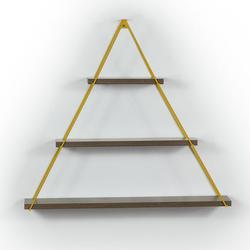 Mingitav Moset Üçgen Raf - Ceviz/Sarı