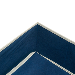 Axentia Çok Amaçlı Bez Kutu (Lacivert) - 33x28x15 cm