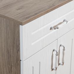 Just Home Avanos 2 Kapaklı Tek Çekmeceli Membran Çok Amaçlı Dolap - Malta Freze/Beyaz