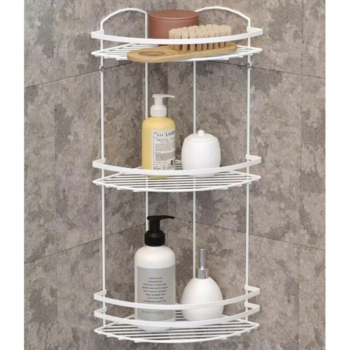 Tekno Tel Lm009 3 Katli Banyo Kose Rafi Beyaz