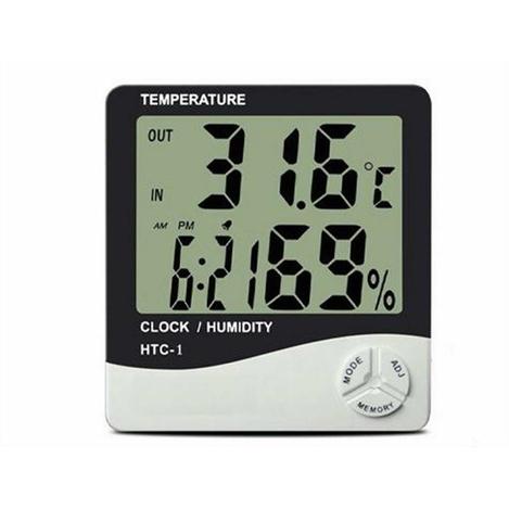 Resim  Practika J52 Dijital Termometre Nem Ölçer Masaüstü Saat