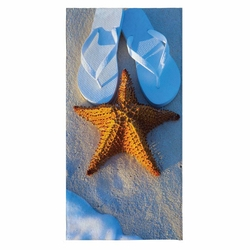 Ecemre ECM-075-123 3D Plaj Havlusu - 80x150 cm