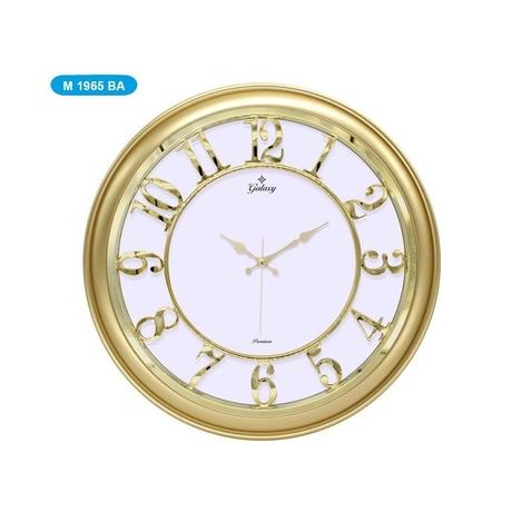 Resim  Galaxy M-1965-BA Duvar Saati - Altın/Beyaz