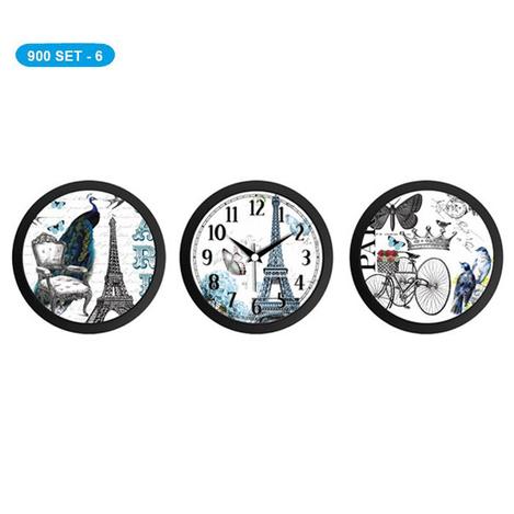 Resim  Galaxy 3'lü Saat ve Tablo Seti - Siyah