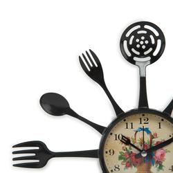 Galaxy 133-K-ÇİÇEK Çatalkaşık Mutfak Saati