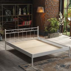 Unimet Maze-S Çift Kişilik Metal Karyola (Beyaz) - 160x200 cm